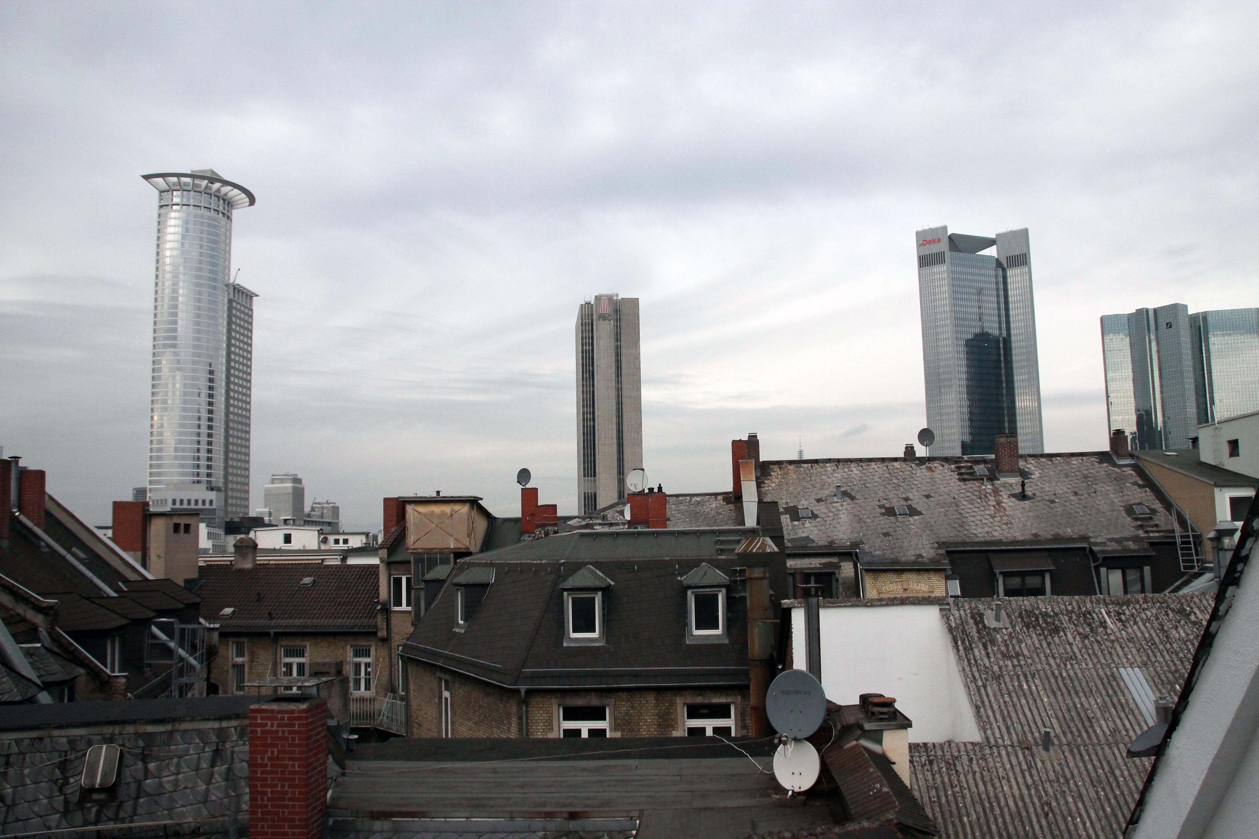 Schöne Aussicht Auf Die Skyline