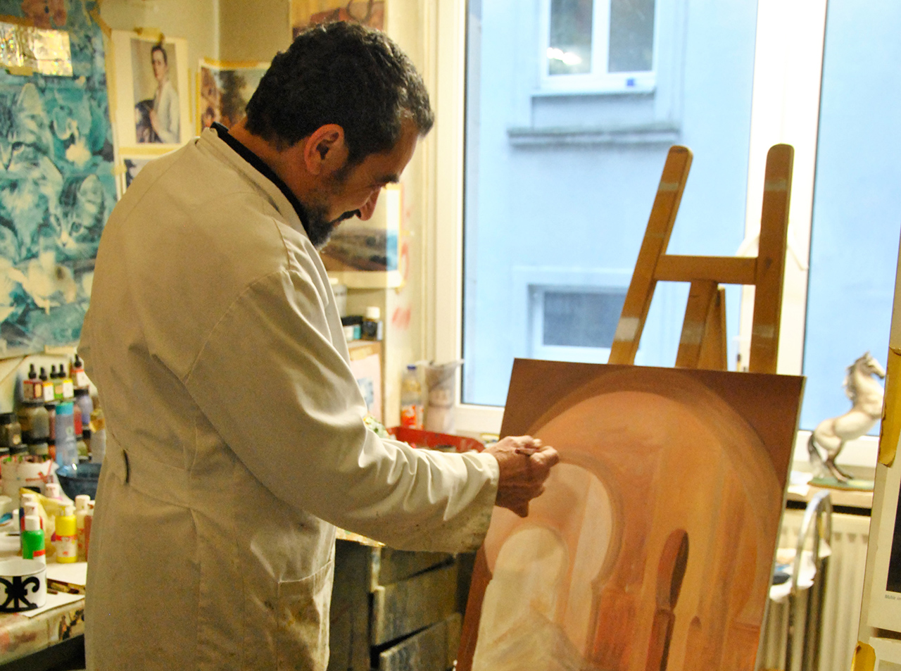 El Idrissi ist ursprünglich Maler